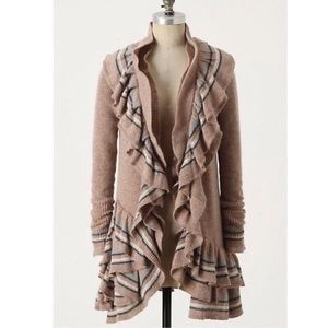Anthropologie Ruffled Cardigan
